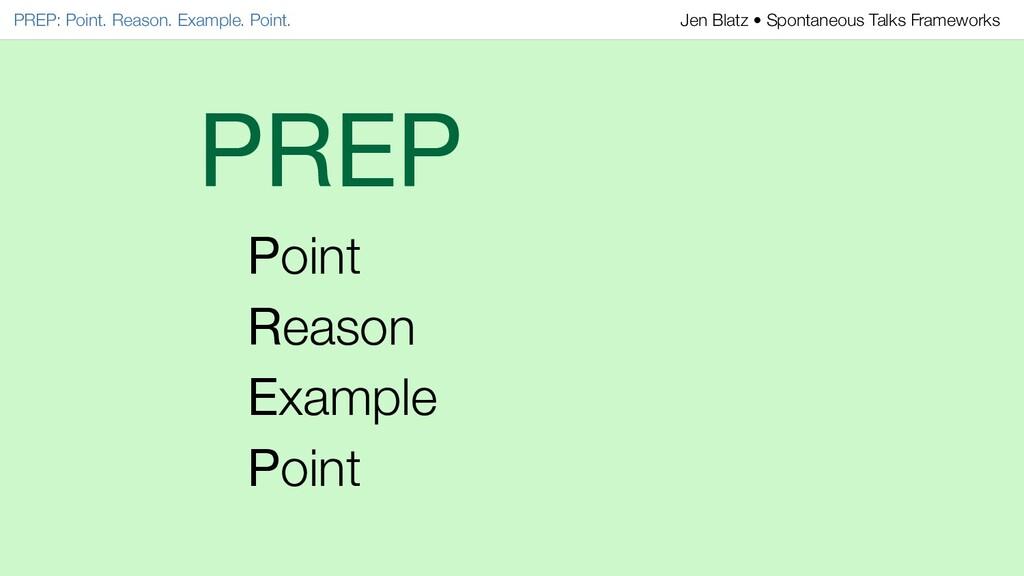 PREP Point Reason Example Point PREP: Point. Re...