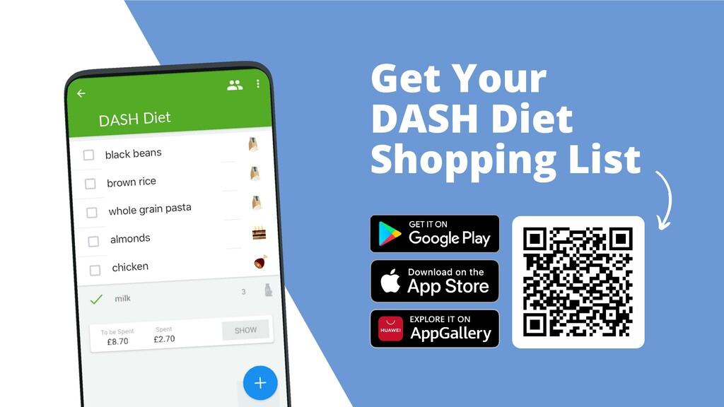 Get Your DASH Diet Shopping List DASH Diet