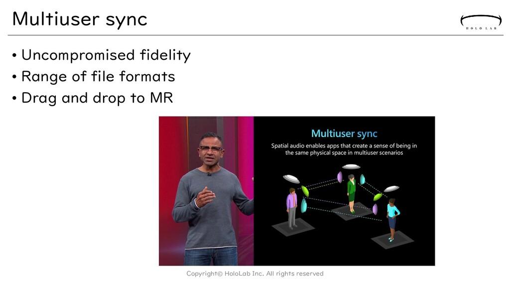 Multiuser sync • Uncompromised fidelity • Range...