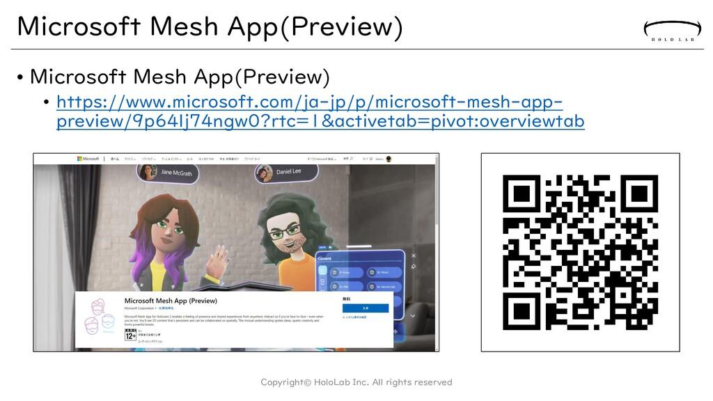 Microsoft Mesh App(Preview) • Microsoft Mesh Ap...