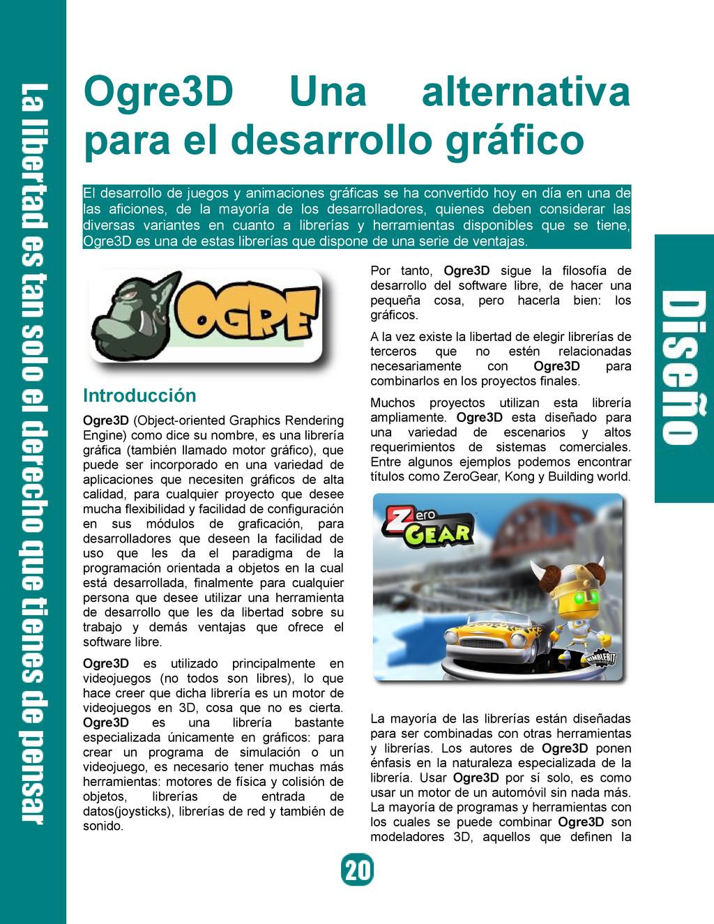 Ogre3D Una alternativa para el desarrollo gráfi...