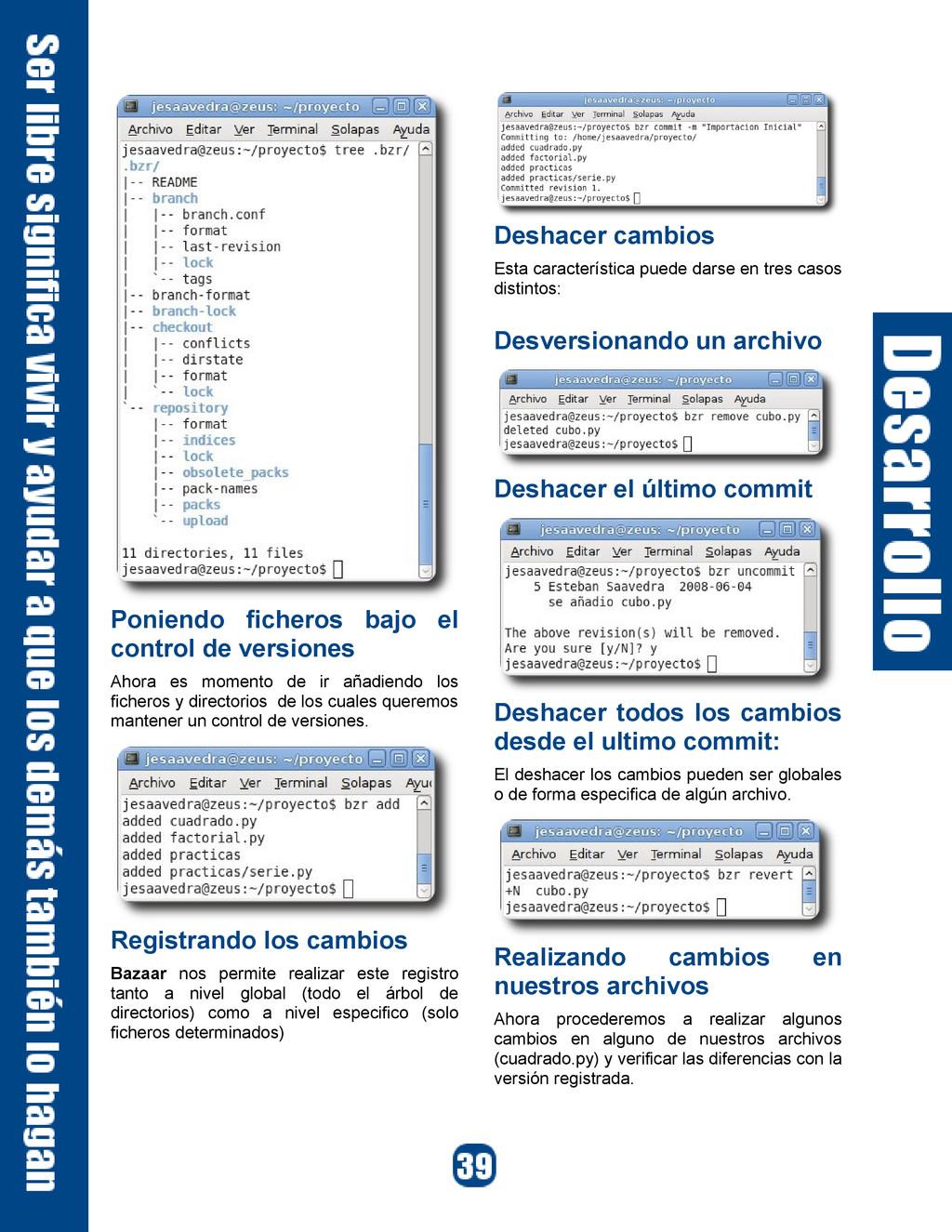 Poniendo ficheros bajo el control de versiones ...