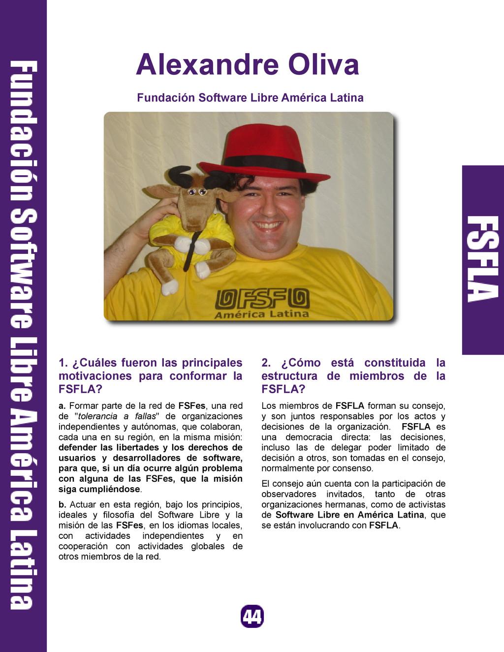Alexandre Oliva Fundación Software Libre Améric...