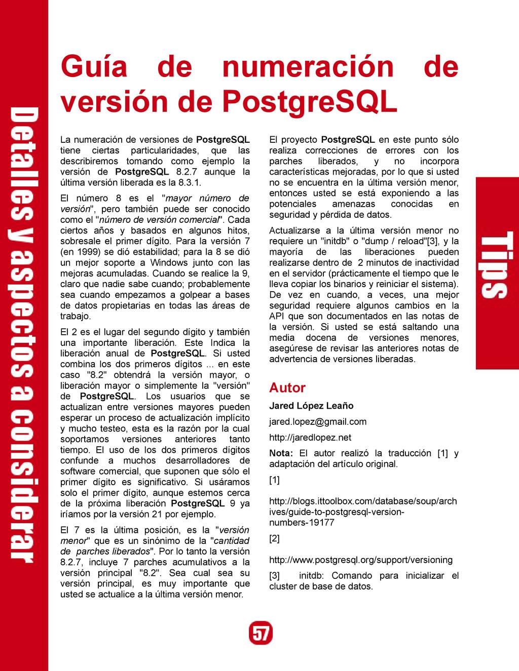 Guía de numeración de versión de PostgreSQL La ...