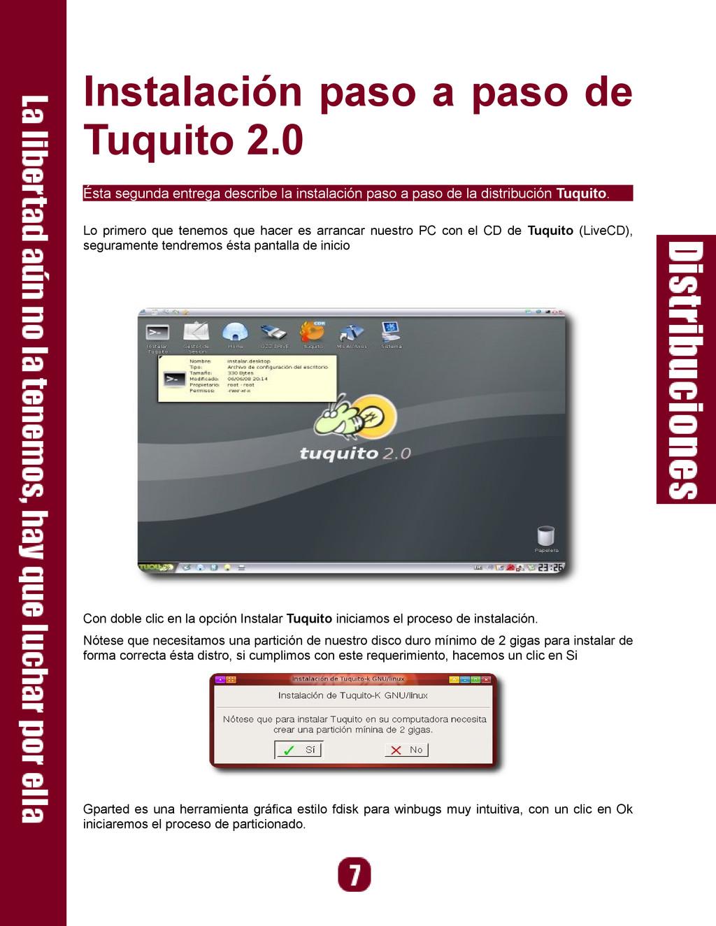 Instalación paso a paso de Tuquito 2.0 Ésta seg...