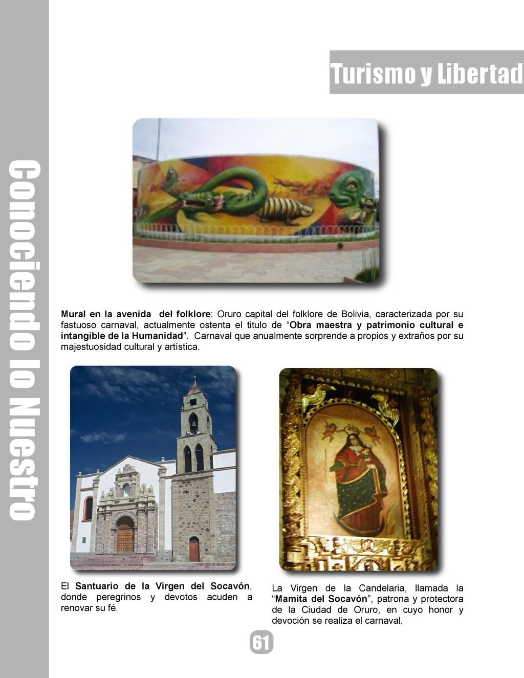 Mural en la avenida del folklore: Oruro capital...