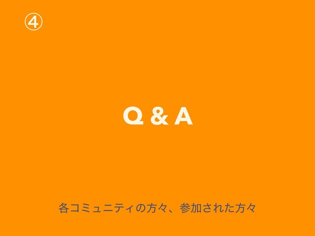 ᶆ Q & A ֤ίϛϡχςΟͷํʑɺՃ͞Εͨํʑ