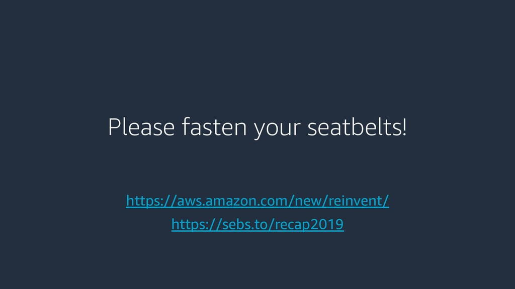 Please fasten your seatbelts! https://aws.amazo...