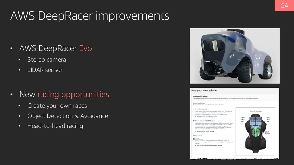 AWS DeepRacer improvements • AWS DeepRacer Evo ...