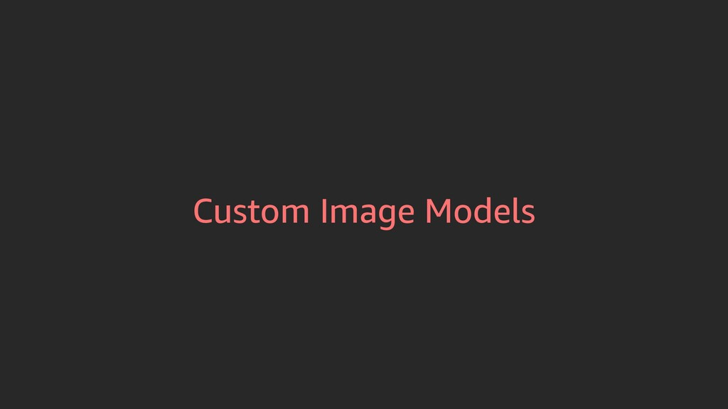 Custom Image Models