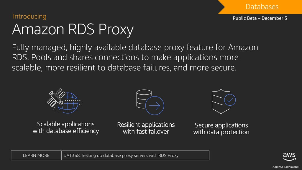 Amazon Confidential Amazon RDS Proxy Introducin...