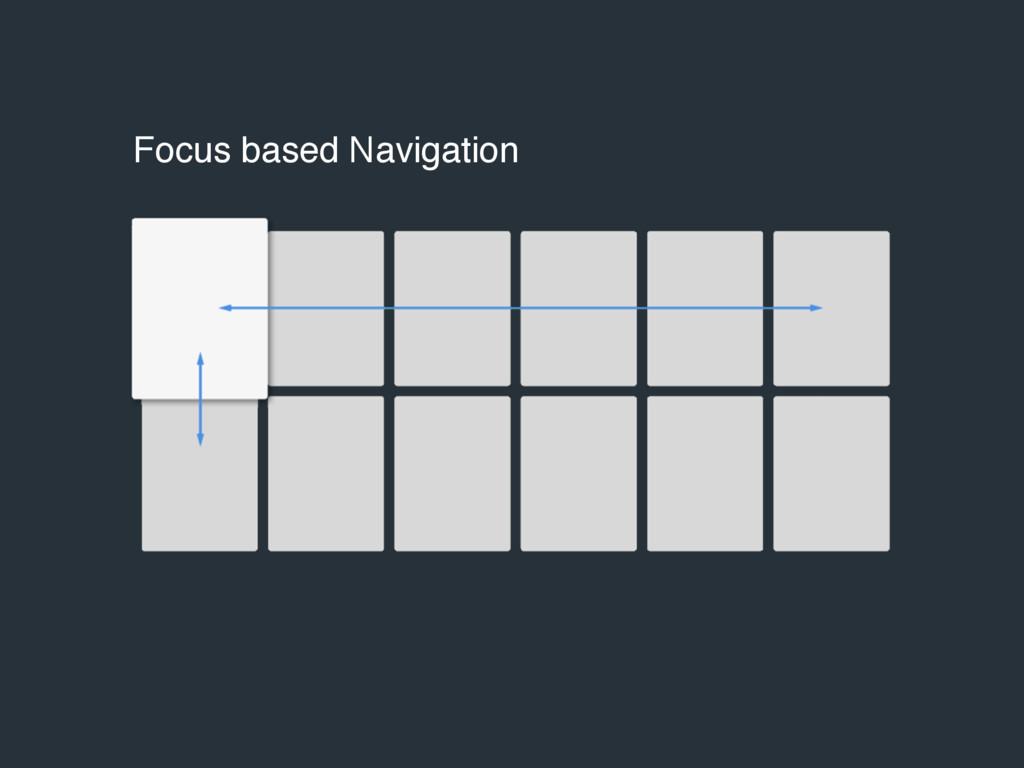 Focus based Navigation