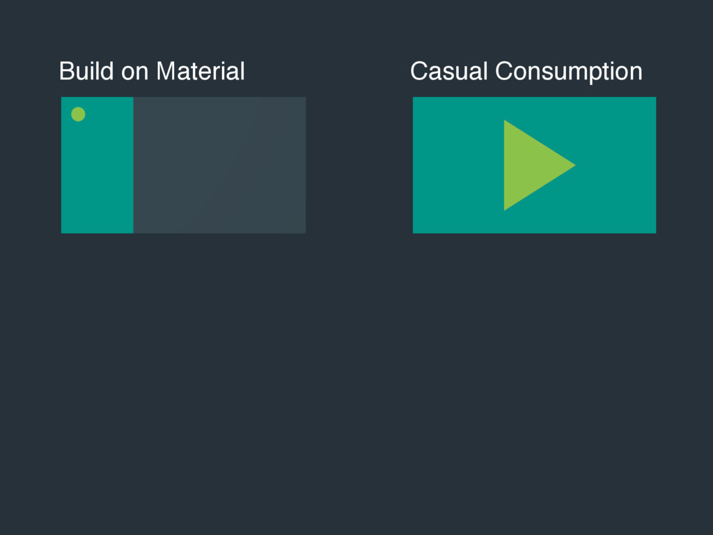 Build on Material Casual Consumption