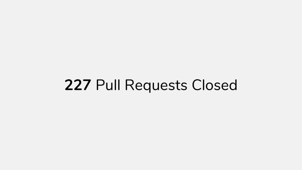 Pull Requests Closed 227