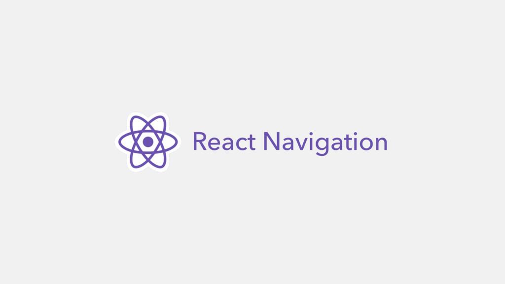 React Navigation