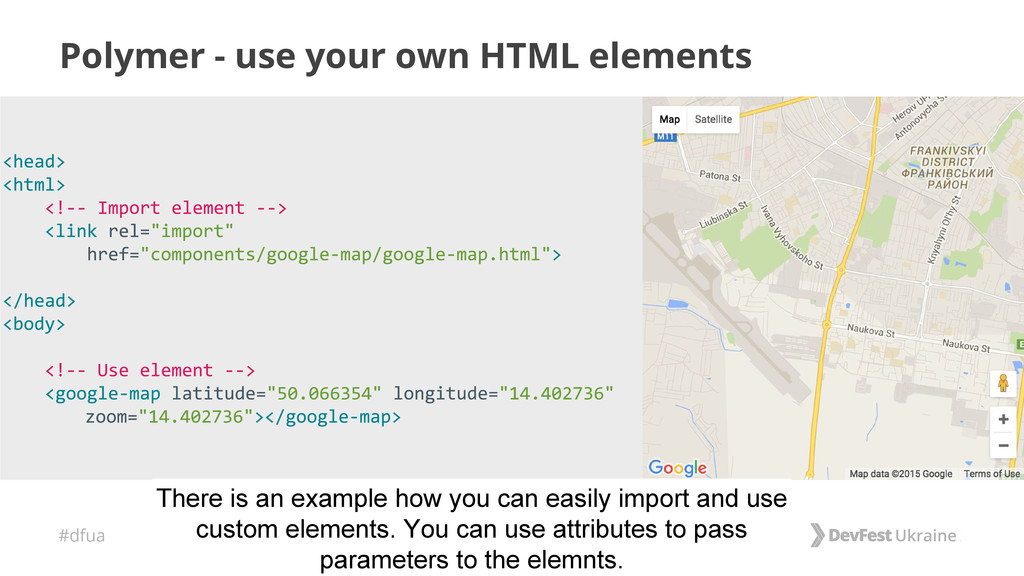 #dfua Polymer - use your own HTML elements Ther...