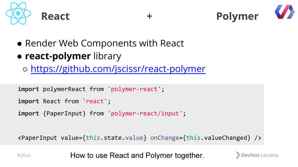 #dfua ● Render Web Components with React ● reac...