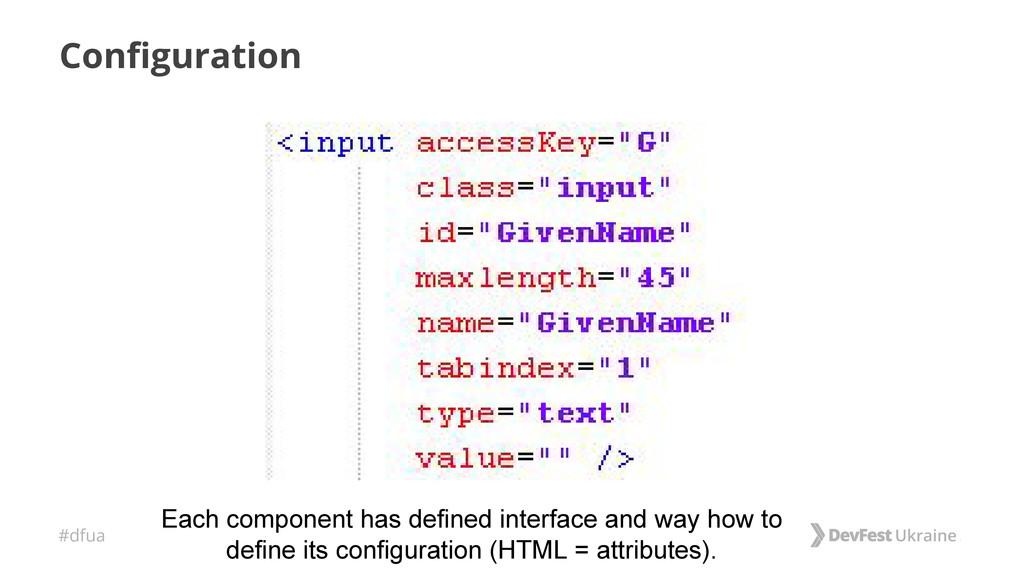 #dfua Configuration Each component has defined ...