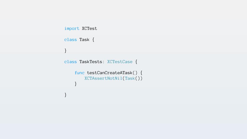 import XCTest class Task { } class TaskTests: X...