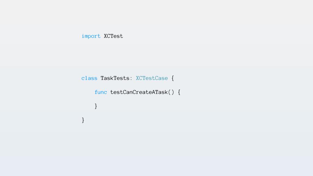 import XCTest class TaskTests: XCTestCase { fun...