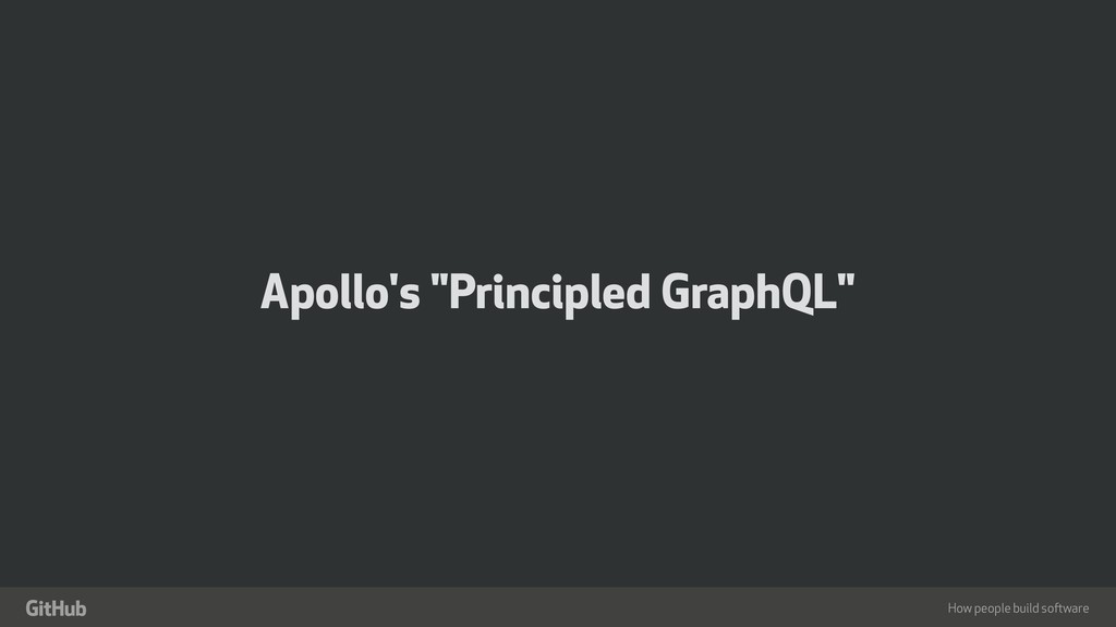 "How people build software "" Apollo's ""Principle..."