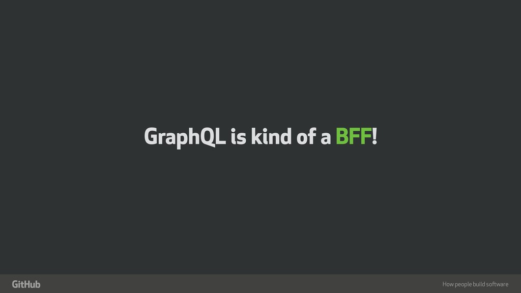 "How people build software "" GraphQL is kind of ..."