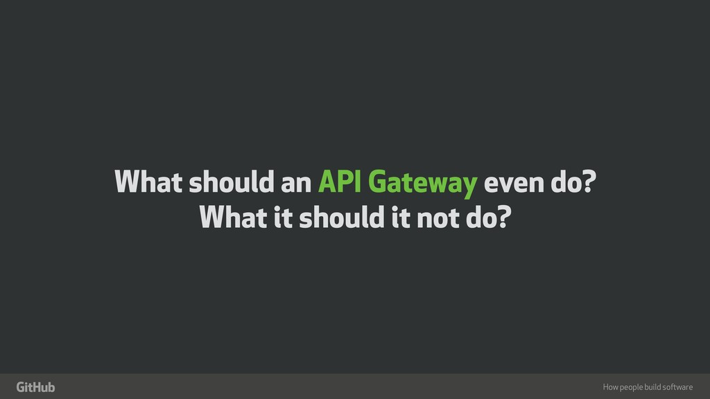 "How people build software "" What should an API ..."