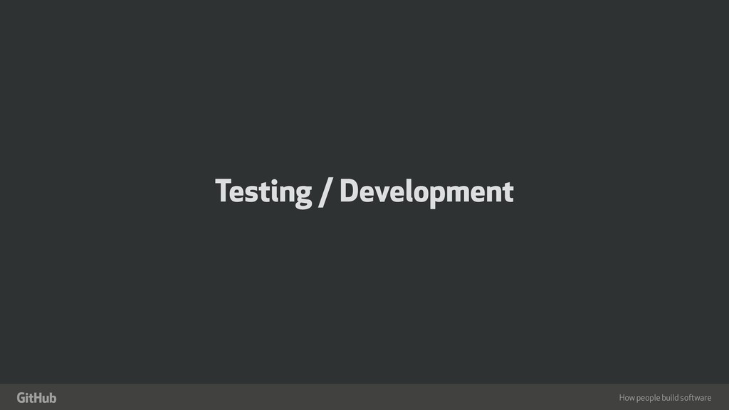 "How people build software "" Testing / Developme..."