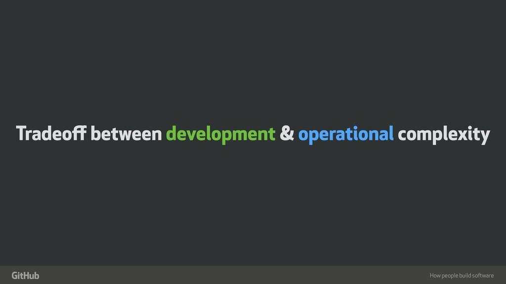 """How people build software """" Tradeoff between dev..."""