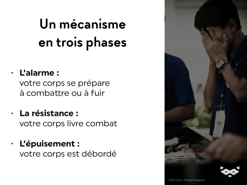 Un mécanisme en trois phases • L'alarme : vot...