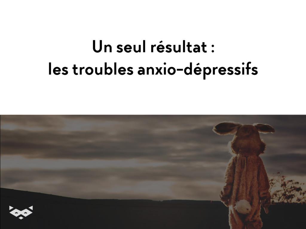 Un seul résultat : les troubles anxio-dépressi...
