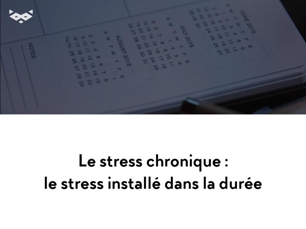 Le stress chronique : le stress installé dans l...