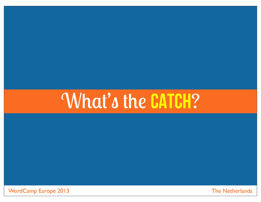 WordCamp Europe 2013 The Netherlands W ' catch?