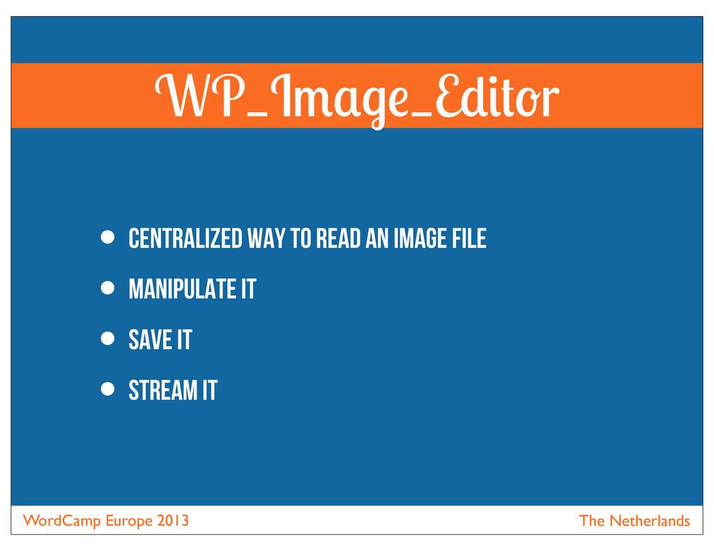 WordCamp Europe 2013 The Netherlands WP_I _E r ...