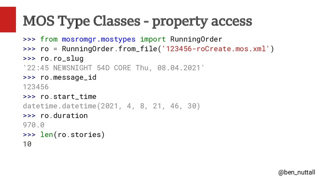 @ben_nuttall MOS Type Classes - property access...