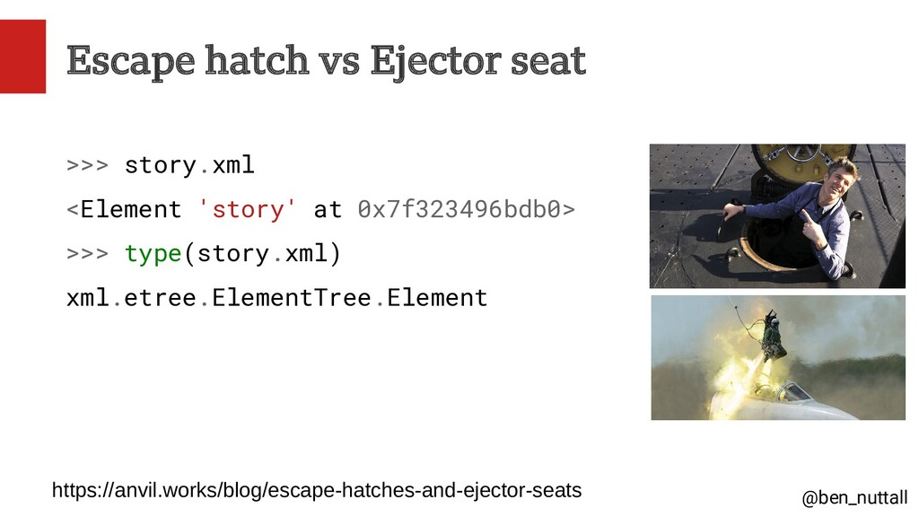 @ben_nuttall Escape hatch vs Ejector seat >>> s...