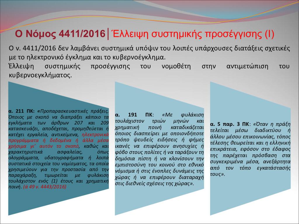 Ο Νόμος 4411/2016│Έλλειψη συστημικής προσέγγιση...