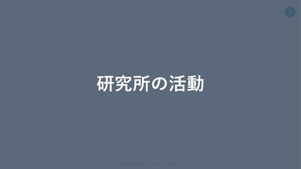 © SAWADA SHO / Internet Plus Laboratory 13 研究所の...