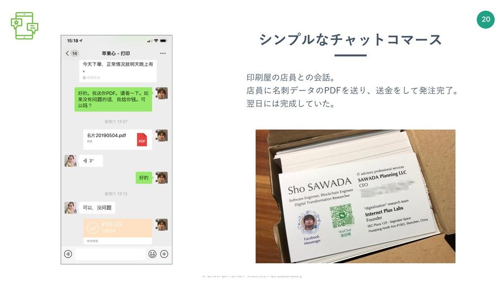 © SAWADA SHO / Internet Plus Laboratory 20 印刷屋の...