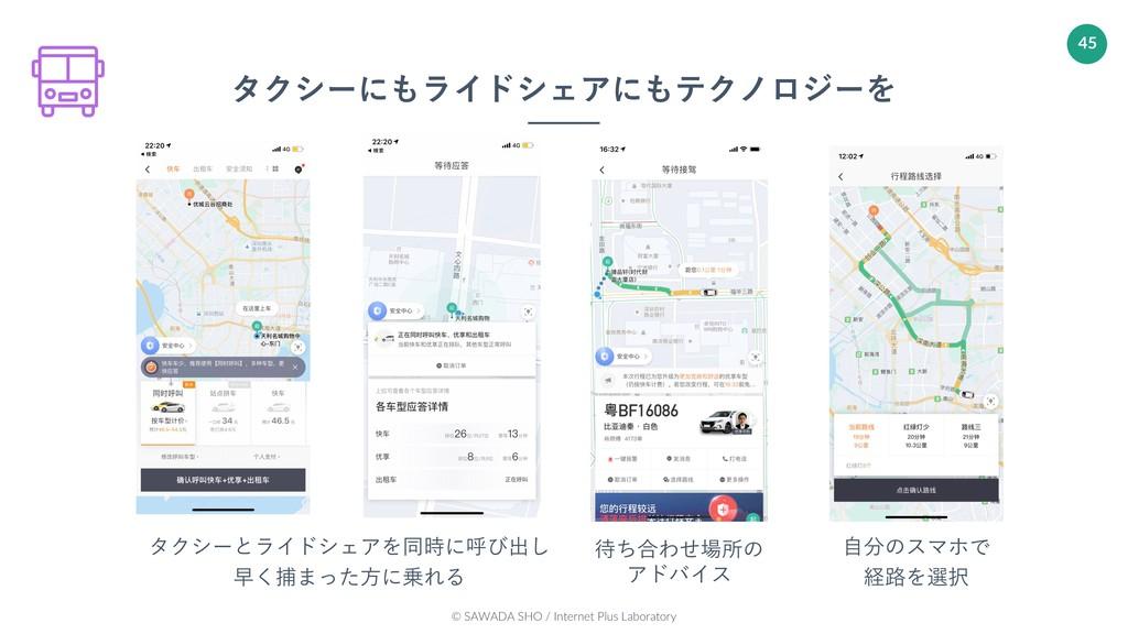 © SAWADA SHO / Internet Plus Laboratory 45 タクシー...
