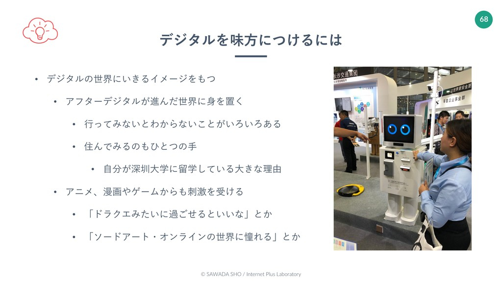 © SAWADA SHO / Internet Plus Laboratory 68 • デジ...