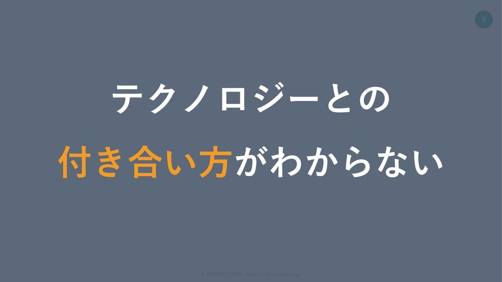 © SAWADA SHO / Internet Plus Laboratory 8 テクノロジ...