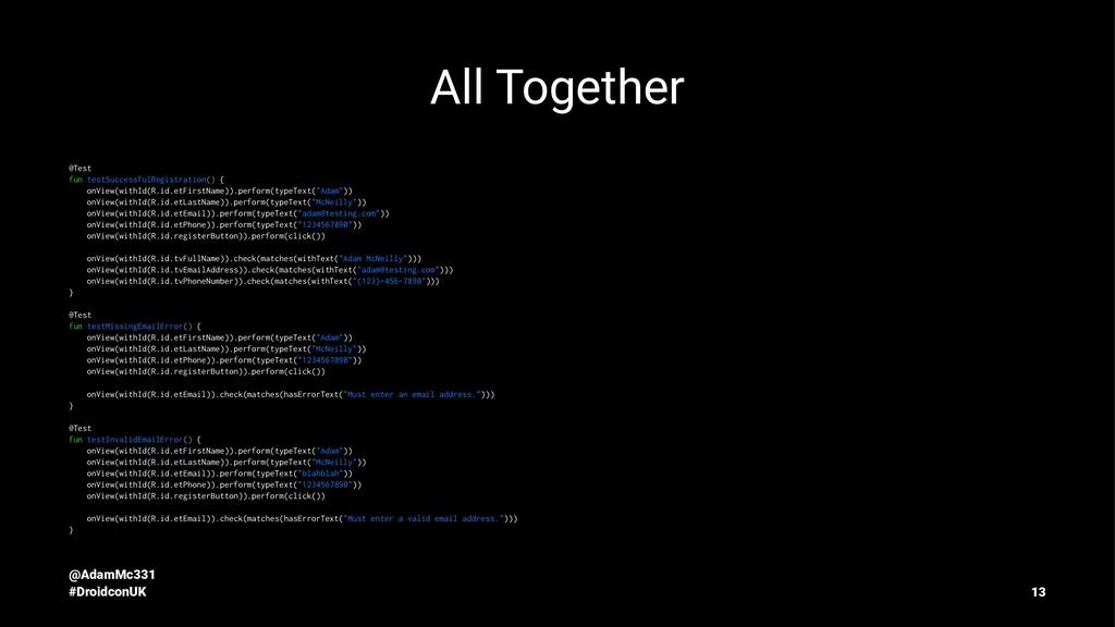 All Together @Test fun testSuccessfulRegistrati...