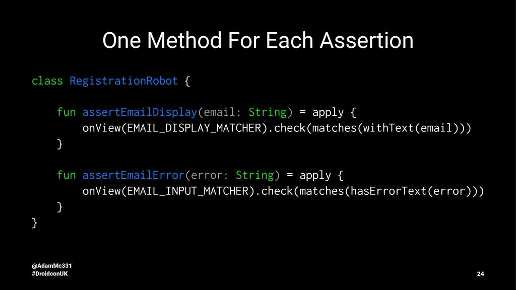 One Method For Each Assertion class Registratio...
