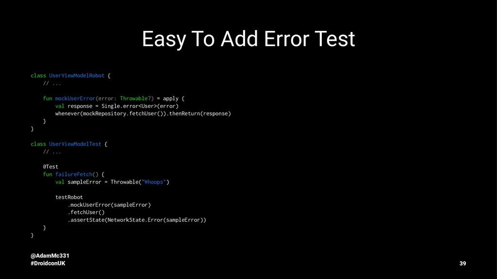 Easy To Add Error Test class UserViewModelRobot...