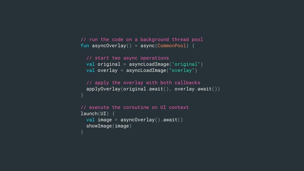 // run the code on a background thread pool fun...