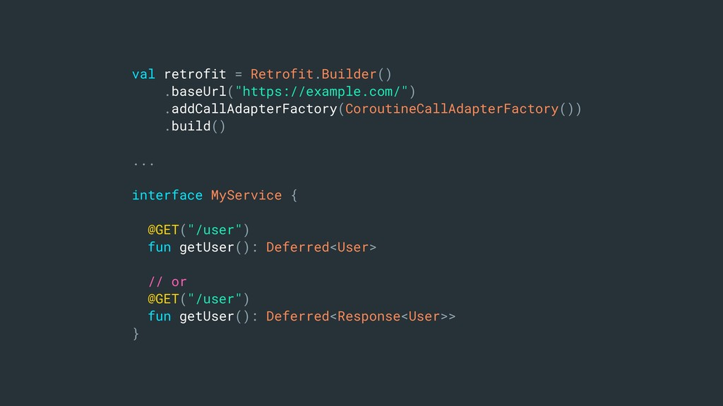 "val retrofit = Retrofit.Builder() .baseUrl(""htt..."