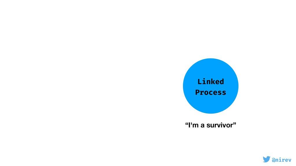 "@nirev Linked Process ""I'm a survivor"""