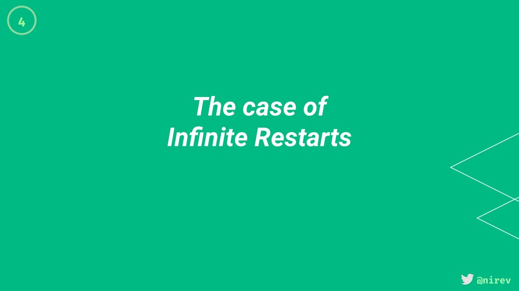 @nirev The case of Infinite Restarts 4