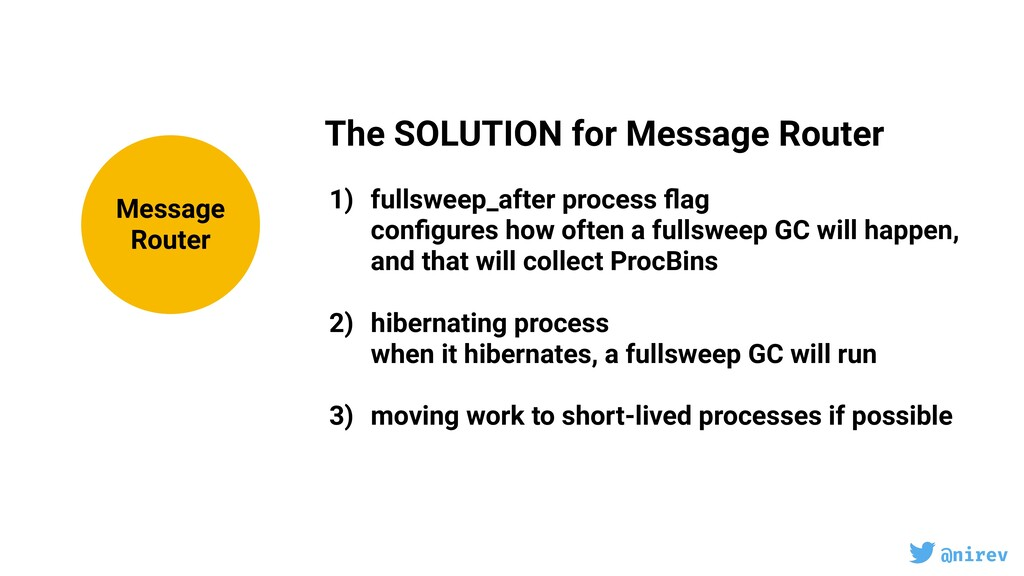 @nirev The SOLUTION for Message Router 1) fulls...